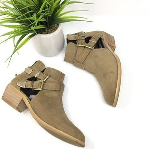 Steve Madden buckle ankle booties